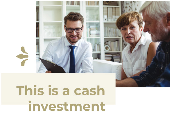 cash investment on mortgage